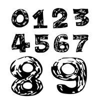 Icona di tiraggio della mano di numeri