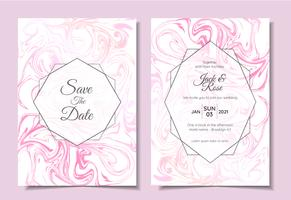 Modern Wedding Invitation Set Marble Textures Beautiful Modern Colors. Trendy Background Multi-purpose Cards Template like Poster, Cover, Book, Packaging vector