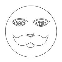 icona del viso ragazzo baffi