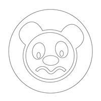 Panda bonito ícone