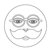 snor kerel gezicht pictogram