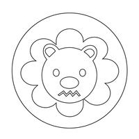 Süße Löwen-Symbol