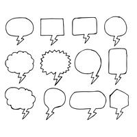 Bocadillo de diálogo a mano icono de dibujo