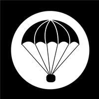 ícone de pára-quedas