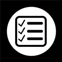 Ícone de lista de verificação