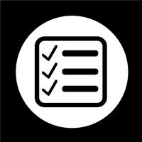 Checklist pictogram