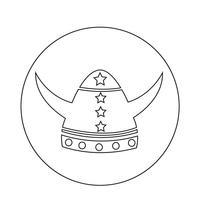 Icono de casco vikingo