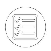 Checklist pictogram