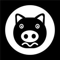 Cute pig Icon