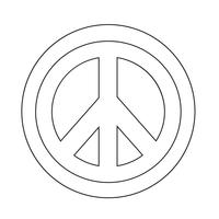 Hippie Peace Symbol icon