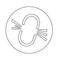 Unterbrochenes Verbindungssymbol