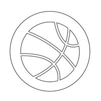 basketbal pictogram