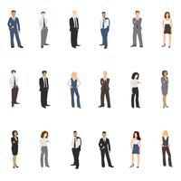 Colección de ilustraciones vectoriales de personas de negocios.