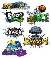 Vector set of comics icons