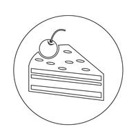 Cake piece icon vector