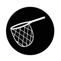 icono de red de caza de pesca