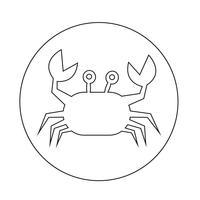icono de cangrejo