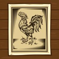 Vector illustration of a cock.
