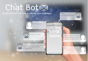 Online smart chatbot vektor koncept bakgrund