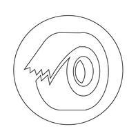 Klebeband-Symbol vektor