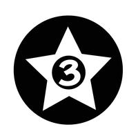 3 sterren Hotel pictogram