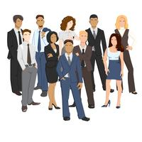 Vector illustrations of business people