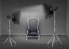 Studio photo Vector avec fauteuil et softbox