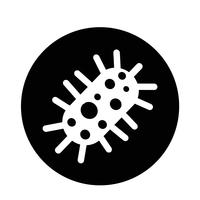 virus bacteria icon vector