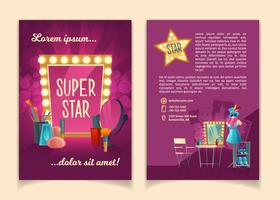 Vector brochure for advertising concert tours
