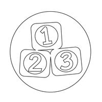 123 Blokken pictogram