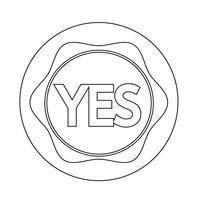 Ícone do botão Sim