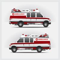 Ambulansservice Bil Isolerad Vektorillustration
