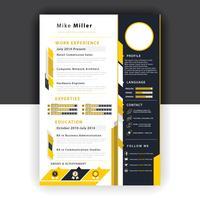 modèle de CV jaune