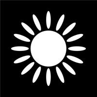 Sign of  sun icon