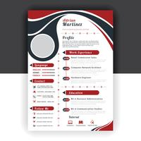 red wave resume vector