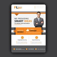 orange business flyer template