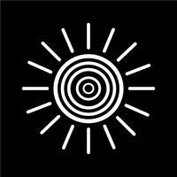 Icono de signo de sol
