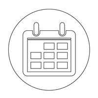 Sign of  Calendar icon vector