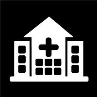 Icône de signe d'hôpital