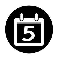 Sign of  Calendar icon vector