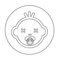 Icône de visage de bébé