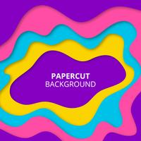 Colorful paper cut background