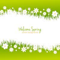 Fondo de primavera verde con lugar para texto