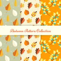 Hand draw autumn patterns