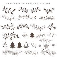 Christmas hand draw elements vector