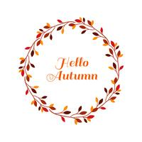 Hello autumn leaves frame vector