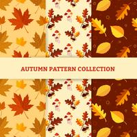 Dibujar a mano patrones de otoño