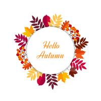 Hallo herfstbladeren frame