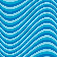 Wavy blue stripe