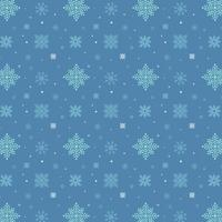 Blue snowflakes pattern. White snowflakes pattern on blue background